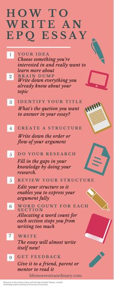 How to write an EPQ essay - use these tips to make writing your extended project qualification essay super easy #epq #studyskills #essaytips via @Lucy Parsons