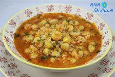 Uno de los platos de cuchareo que más me gustan, Garbanzos con gambas y arroz olla GM