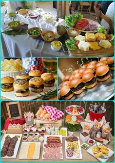 54 Trendy Ideas For Wedding Food Platters Catering Bar A Burger, Burger Bar Party, Party Food Bars, Snacks Für Party, Pizza Party, Bbq Party, Food For Party Buffet, Bbq Food Ideas Party, Picnic Snacks