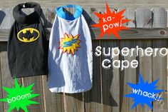 another super hero cape pattern...now for that sewing machine