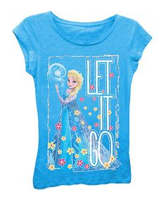Another great find on #zulily! Turquoise 'Let it Go' Tee - Girls #zulilyfinds