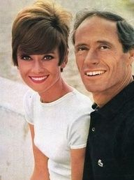 Mel Ferrer photographed by Pierluigi Praturlon with his wife Audrey Hepburn in the French Riviera (Cte dAzur), during the filming of Two for the Road, in June 1966.