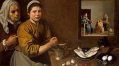 Obraz Scena kuchenna z Chrystusem w domu Marii i Marty
