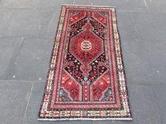 "OLD HANDMADE PERSIAN Oriental Colourful Wool Rug Runner 160x82cm 5'4""x2'9"" #Oriental"