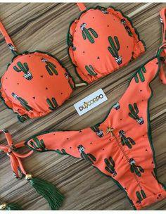 Women Halter Floral Print Bikini Swimsuit Criss Cross Push Up Floral Leaf Two Piece Swimsuit Bathing Suit Swimwear Cute Bikinis, Cute Swimsuits, Two Piece Swimsuits, Summer Wear, Summer Outfits, Cute Outfits, Vetements Shoes, Floral Bikini, Cactus Swimsuit