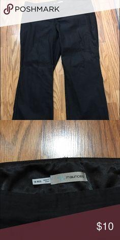 Maurice's black dress pants Cute pinstripe dress pants. Bootcut. Run smaller. Maurices Pants Boot Cut & Flare