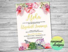 Tropical bridal shower invitation flamingo bridal shower tropical bridal shower invitation bridal shower invite filmwisefo