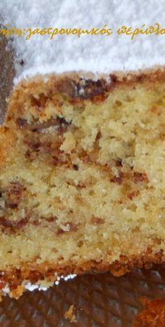 Greek Sweets, Greek Desserts, Greek Recipes, Pastry Recipes, Sweets Recipes, Cake Recipes, Cooking Recipes, Sweet Loaf Recipe, Cake Cookies