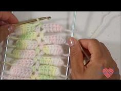Multicolor cadenitas doble con horquilla y crochet/ hairpin lace with a double chain (multicolored) - YouTube