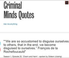 Quotes From Criminal Minds Quotes On  Pinterest  Criminal Minds Quotes