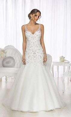 Essense of Australia D1719: buy this dress for a fraction of the salon price on PreOwnedWeddingDresses.com