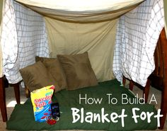Too Hot To Play Outside Build An Indoor Blanket Fort For The Kids