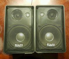 Pair of KLH Audio System 979B Indoor Outdoor Bookshelf 3 Way Speakers #KLH