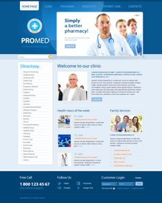 Pro Med Professional Medical Center Joomla Template by Dynamic Template