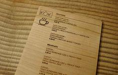 Carta Menú KöK – Grabolaser