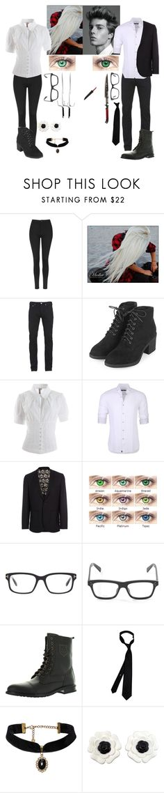 """""""Black butler reaper oc's"""" by gglloyd ❤ liked on Polyvore featuring Topshop, Paul Smith, Antonio Marras, Stone Rose, Tom Ford, CÉLINE and Chanel"""