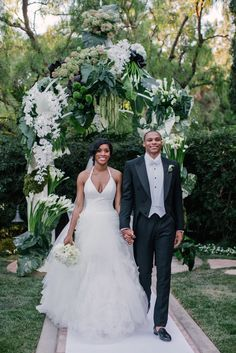 Russell Westbrook and Nina Westbrook, who got married on Saturday, August at the Beverly Hills Hotel Celebrity Wedding Photos, Celebrity Couples, Celebrity Weddings, Perfect Wedding, Dream Wedding, Black Marriage, Beverly Hills Hotel, Basketball Season, Nba Stars