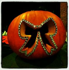 Cheer bow pumpkin