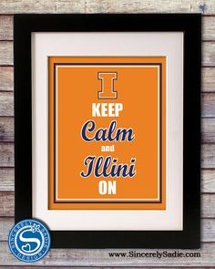 University of Ilinois Keep Calm and Illini On This is going on my front door next year