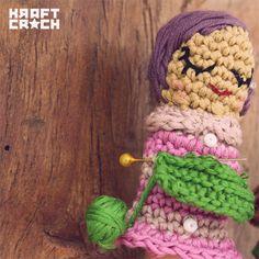 Los títeres de amigurumi de Kraft Croch  #naturadmc