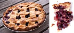 A classic cherry pie from Daly Pie, bulging with whole cherries and laced with cinnamon.