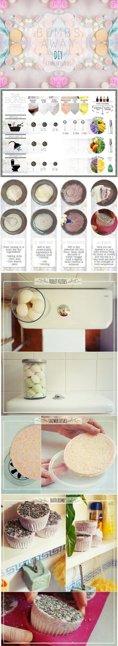 diy bath bombs, shower fizzies and toilet fizzies  | Your Beauty Script                                                                                                                                                                                 More