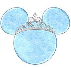 Ideas y material gratis para fiestas y celebraciones Oh My Fiesta!: Princesas Disney en siluetas de Mickey.