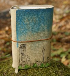 Leather journal Hand bound leather journal by craftSOO, $41.00