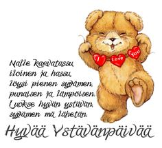 Tämä ystävänpäivä Early Childhood Education, Wise Words, Inspirational Quotes, Positivity, Valentines, Motivation, Winnie The Pooh, Disney Characters, Fictional Characters