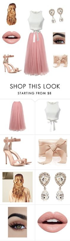 """""""Pink and white outfit"""" by breanna-holler on Polyvore featuring Little Mistress, WithChic, Gianvito Rossi, Oscar de la Renta, Hershesons, Dolce&Gabbana and Nevermind"""