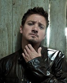 Jeremy Renner, contemplating the massive awesomeness of being my brother-in-law. Also, he should consider marrying my friend Elizabeth. Bigamy can be cool.