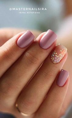 50 Super pretty nail art designs – Dying over these nails! Classy Nails, Stylish Nails, Simple Nails, Summery Nails, Pastel Pink Nails, Pink Nail Art, Lilac Nails Design, Dark Pink Nails, Floral Nail Art