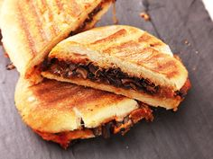Vegan Caramelized Onion and Mushroom Panini With Sun-Dried Tomato Mayonnaise | Serious Eats : Recipes