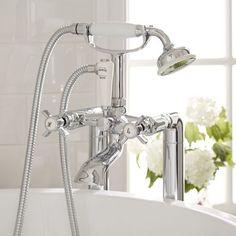 Milano Freestanding Traditional Crosshead Bath Shower Mixer Kit