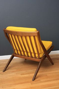 Pair of Scissor Lounge Chairs by Folke Ohlsson for Dux | From a unique collection of antique and modern lounge chairs at https://www.1stdibs.com/furniture/seating/lounge-chairs/