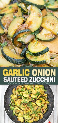 Garlic Onion Sauteed Zucchini Recipe - Healthy simple side dish to serve up with your favorite main course meal. You can use small or large zucchinis. www.MasalaHerb.com Zucchini Side Dishes, Healthy Side Dishes, Vegetable Side Dishes, Easy Main Dish Recipes, Fancy Dinner Recipes, Easy Recipes, Dinner Ideas, Healthy Recipes, Sauteed Zucchini Recipes