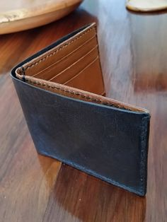 Men's Wallet Two Tone Kangaroo Leather. Red Kangaroo, Layers Of Skin, Hand Stitching, Buy And Sell, Take That, Wallet, Leather, Handmade, Stuff To Buy