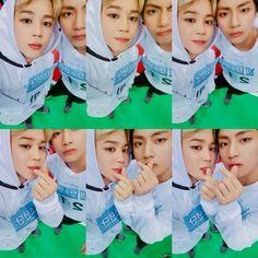 Jimin and V ❤ [BTS Trans Video Tweet] ☺️ #JIMIN #아육대 / ☺️ #JIMIN #ISAC (VMIMNNNNNNN) #BTS #방탄소년단