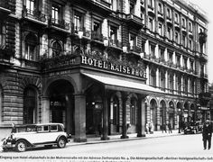 Hotel Kaiserhof am Wilhelmplatz. Old Pictures, Old Photos, Berlin Hotel, Das Hotel, Hotel Kaiserhof, Berlin Germany, Historical Photos, Old World, Street View