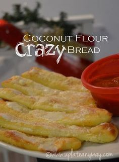 Coconut flour crazy bread Update: I have changed up a few ingredients in this recipe and created a fantastic cheese dough that holds more like pizza dough does. If you'd like a more bread like recipe then please… Gluten Free Recipes, Low Carb Recipes, Cooking Recipes, Healthy Recipes, Lunch Recipes, Easy Recipes, Dinner Recipes, Healthy Baking, Low Carb Bread