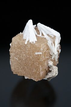 Fluorite with Barite - Lexington Quarry, Jessamine Co., Kentucky, USA Size: 3.3 x 2.5 x 2.2 cm