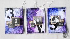 Mixed Media Place: ATC triptych