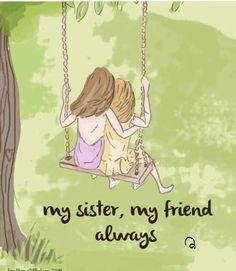 Rose Hill Designs by Heather Stillufsen Love My Sister, Best Sister, Sister Friends, My Friend, Best Friends, Sisters Art, Little Sisters, Happy Sisters, Soul Sisters
