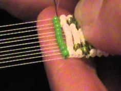 Starting & ending thread on a bead loom... great tutorial to find out what to do with those pesky ends!