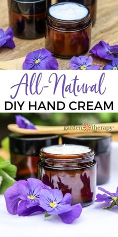 If your hands are chapped and dry from washing and sanitizing, you'll love this DIY hand cream. If you have never done it before, you'll be amazed at how much fun it is to learn how to make lotion from holistic, natural ingredients. #gardentherapy #lotion #diy #naturalbeauty #plantbasedbeauty #skincare Natural Beauty Recipes, Hand Cream, Manicure And Pedicure, Natural Healing, Herbal Remedies, Plant Based, Lotion, Herbalism, Skincare