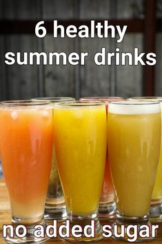 6 summer drinks recipes | fruit drinks | easy refreshing drinks | summer fruit juice with step by step photo and video recipe. the summer season is almost synonyms to the refreshing fruit beverages and the sugar-loaded desserts. with respect to beverages, we either end up getting up in a cafe or go for carbonated sugar-rich beverages. but it can also be made at home with little effort and that too sugarless. today i am covering 6 refreshing fruit juices with this post for the upcoming summer… Healthy Juice Recipes, Smoothie Recipes, Smoothies, Fruit Drinks, Fruit Juice, Tandoori Masala, Summer Drink Recipes, Indian Dessert Recipes, Vegetarian Snacks