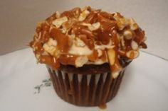 Chocolate Cupcakes with Crushed Pretzels and Salted Caramel Buttercream by jimmie