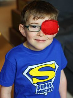 All our eye patchers are Super Heroes to us! We have new Super Patcher t-shirts available for your child to wear while patching at www.patchpals.com for only $12.95 in many sizes for babies, toddlers and children.