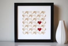 Wedding Gift Personalized Framed 3D Song Hearts par SuzyShoppe