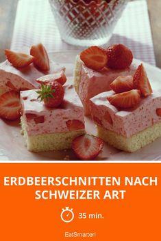 Erdbeerschnitten nach Schweizer Art - smarter - Zeit: 35 Min. | eatsmarter.de #erdbeer #kuchen #schnitten #schweiz #beeren